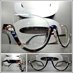 CLASSIC 60's RETRO CAT EYE Style Clear Lens EYE GLASSES Tort
