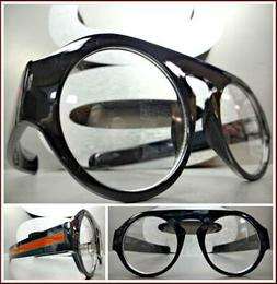 CLASSIC RETRO Style Clear Lens EYE GLASSES Large Thick Round