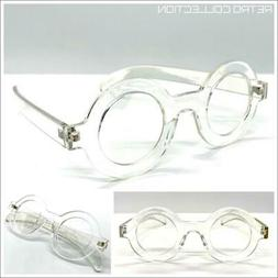 Classic Sophisticated Professor Waldo EYE GLASSES Round Crys