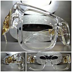 CLASSIC VINTAGE HIP HOP RAPPER Clear Lens EYE GLASSES Transp