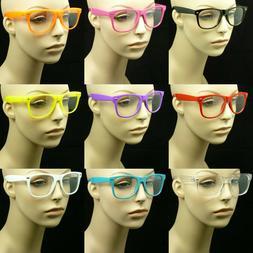 Clear glasses lens men women nerd geek fake eye wear unisex