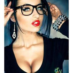 Clear Lens Retro Style Eyeglasses Men Women Fashion Square P