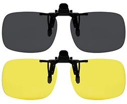 Clip On Sunglasses Polarized Sunglasses to Clip onto Eyeglas