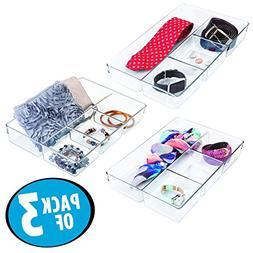 mDesign Closet and Dresser Drawer Storage Organizer Tray: Di