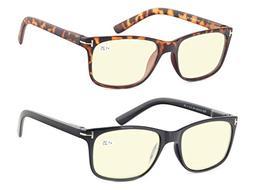 Computer Glasses Set of 2 Anti Glare Anti Reflection Stylish