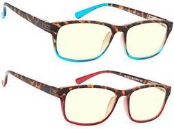 Computer Glasses 2 Pair Anti Glare Anti Reflection Spring Hi