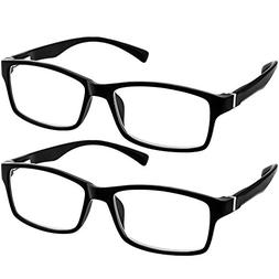 Computer Reading Glasses 1.25 Black 2 Pack Protect Your Eyes