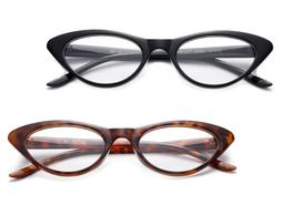 Designer Cat Eye Reading Glasses Women Fashion Readers Class