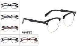 Designer Clear Lens Glasses Retro Nerd Frames Mens Womens Ey