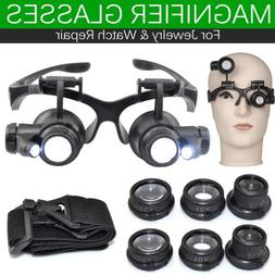 Double Eye Jewelry Watch Repair Magnifier Loupe Glasses With