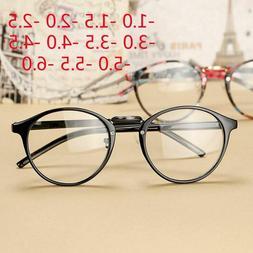 Eye Glasses Men Women Retro Round Ultra Light Myopia Plastic