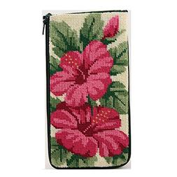 Eyeglass Case - Hibiscus - Needlepoint Kit