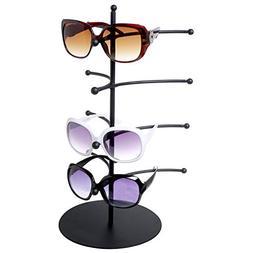 Eyeglass Display Rack, 4 Pair Black Metal Sunglasses Holder