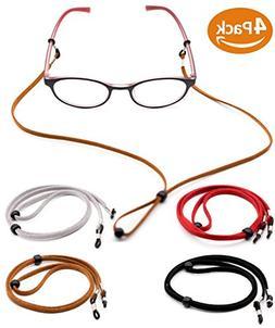 Eyeglass Holder Chain  Premium Leather Eyewear Retainer - Wo