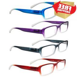 Eyeglasses, Reading Glasses, Set of 4, Neon Ombre for Men &