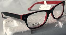 Pomy Eyewear 315 black/red 52-18-145 Women's EyeGlass  fra