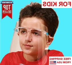Face Shield FOR KIDS BOYS GIRLS with eye Glasses Clear Glass