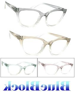 Fashion Cat Eye Computer Glasses Anti Blue Light Blocking Le