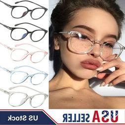 Fashion Clear Glasses Frame Women Round Eyeglasses Transpare