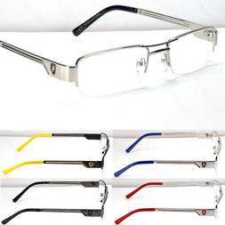 Fashion Designer Rectangular Clear Lens Eye Glasses Metal Fr