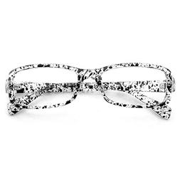PenSee Fashion Rectangular Horned Rim Clear Lens Eye Glasses