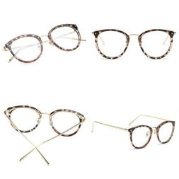 Amomoma Fashion Round Eyewear Frame Eyeglasses Optical Clear