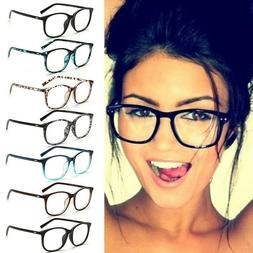 Fashion Women Eyeglasses Frame Clear Lens Glasses Metal Plai