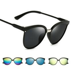 Fashion Women Men Mirror Designer Flat Lens Sunglasses Retro