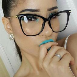 Fearless Women Eyeglasses Cat Eye Clear Lens Metal Fashion G