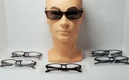 GAMMA RAY 6Pk Spring Hinge Reading Glasses Unisex Readers w/