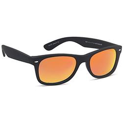 GAMMA RAY Polarized UV400 Sunglasses Large - Mirror Orange L