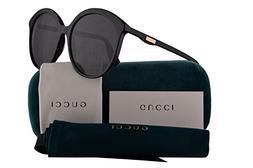 Gucci GG0257S Sunglasses Black w/Grey Lens 59mm 001 GG0257/S