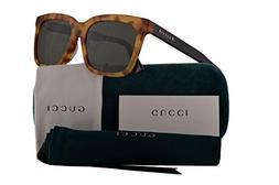 Gucci GG0267SA Sunglasses Havana Black w/Green Lens 55mm 005