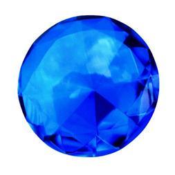 Giant 60mm Cobalt Blue Cut Glass Diamond Jewel