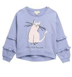 KATE SPADE New York Girls Size 8 Cotton Knit Sweatshirt Top
