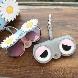 Glasses Case Cartoon Cute Women Fashion Bag Owl Eye Lady Sun