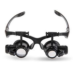 Allytech 4 Pairs Glasses New Loupe 10 X 15X 20 X 25X Double