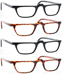 Fiore® 4 Pack Half Frame Reading Glasses Spring Hinges
