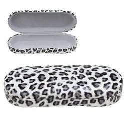 OptiPlix Hard Clamshell Eyeglass Case, Leopard Print Protect