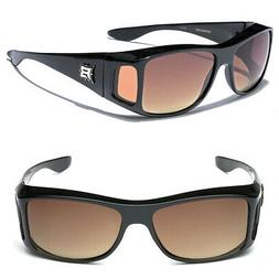Night Vision HD Lens Sunglasses Driving Goggle Fit Over Pres