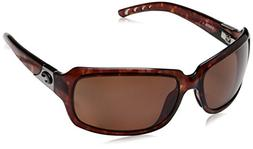 COSTA DEL MAR Women's Isabela Polarized Wrap Sunglasses, Tor