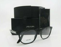 Prada Journal Polished Black Women Rx. Glasses, New w Box VP