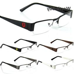 Khan Mens Women Clear Fake Lens Rectangular Eye Glasses Nerd