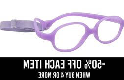 Kids Eyeglasses Optical Glasses Frame w Strap 2-3Y Size 40 F