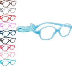 Kids Eyeglasses Optical Glasses Frame w Strap TR90 Size 44 F