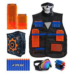 Wolftop Kids Tactical Vest Kit for Nerf Guns N-Strike Elite
