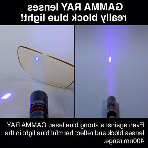GAMMA Computer Glasses with Magnification Anti Light Anti for TV Monitor Screens Orange
