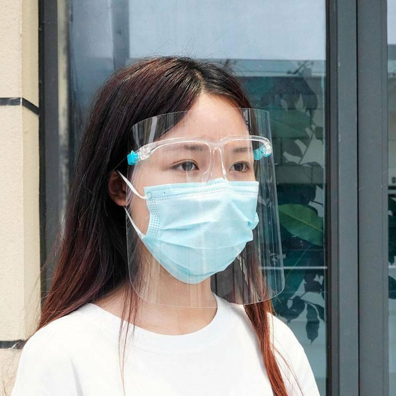 2/3/5 Clear Face Shields Mask Glasses Protection Plastic Shield Frame