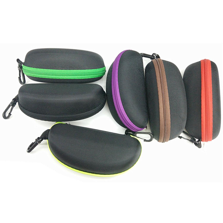 2PCS Zipper Eye Glasses Sunglasses Hard Case Box Portable Pr