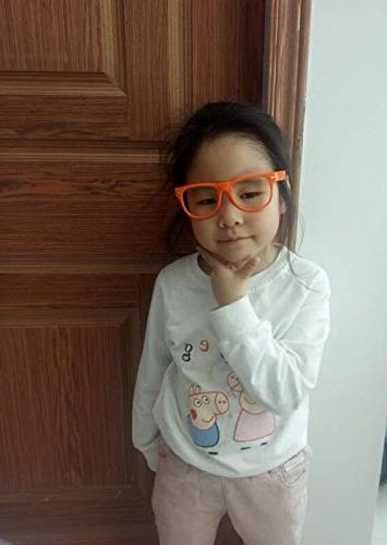 3 Kids Clear Lens Glasses Protect Eyes Yellow